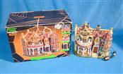 LEMAX SPOOKY TOWN COLLECTION BLACK CAULDRON INN TABLE PORCELAIN LIGHTED HOUSE